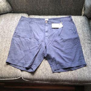 Brand New Navy Faherty Stretch Shorts 40